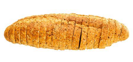 Un pain de blé entier isolé sur blanc Banque d'images - 51338413
