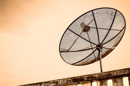 snoop: Satellite TV with sky Stock Photo