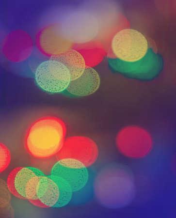 multicolored: De-focused lights multicolored background Stock Photo