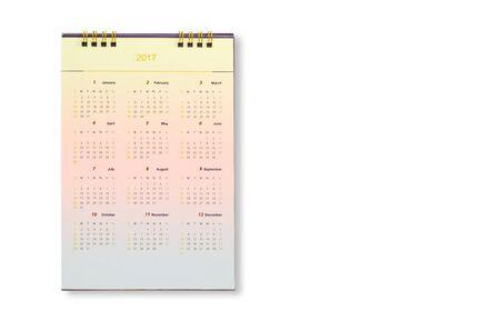 next year: Calendar for 2017