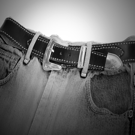 bluejeans: Belt and jeans Stock Photo