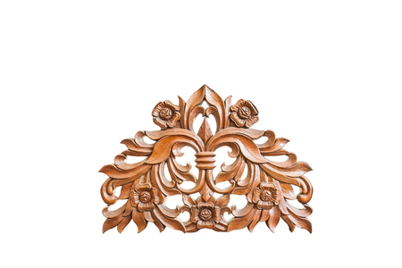 Thai art wood carving pattern