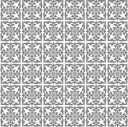 gray pattern: Gray Thai art pattern, Backgrounds Illustration