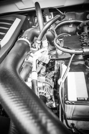 lite: Diesel engine 1.9 lite under the hood of pickup truck