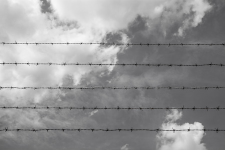 barbed wire frame: Barbed wire against the sky, Backgrounds