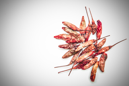 hottest: Dried chilli isolated on white