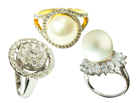 diamond rings: Diamond ring and pearl rings