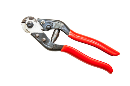 alicates: Metal wire cutting pliers Foto de archivo