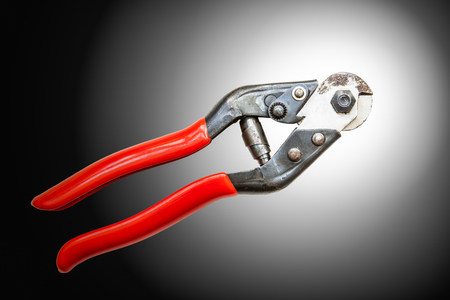 Metal wire cutting pliers Stock Photo