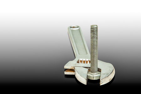 crescent wrench: Adjustable wrench clamp bolts