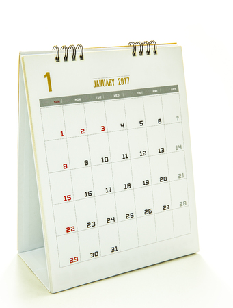 next year: Calendar 2017 isolated on white