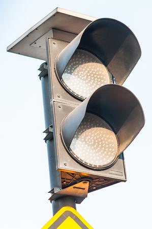 flashing: Traffic lights flashing yellow, Conceptual symbol of attention