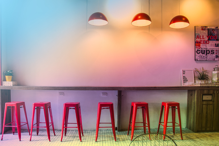 furniture store: Warm lighting modern ceiling lamps in the cafe