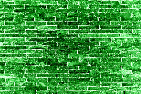 The green bricks wall, backgrounds
