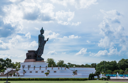 Walking Buddha statue style in Thailand, Backgrounds