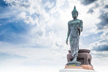 Walking Buddha statue style in Thailand