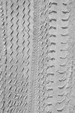 traction: Car tire tracks on the ground