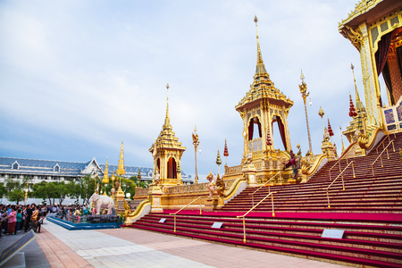 People who visit in Royal Crematorium for the Royal Cremation of His Majesty King Bhumibol Adulyadej Bangkok Thailand