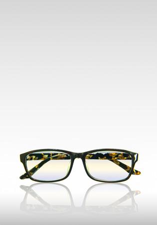 Vintage eyeglasses isolated on a white