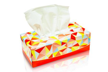 Red Tissue box blanco label en geen tekst voor mock-up verpakking