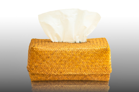 Tissue box mock up white tissue box blank label and no text for packaging,