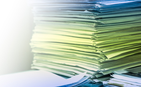 A piled up office work papers, Backgrounds