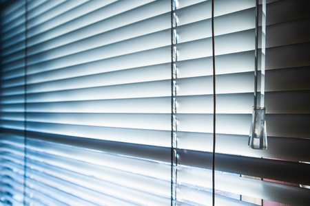 Windows and blinds with sun rays, Backgrounds 版權商用圖片 - 118127059