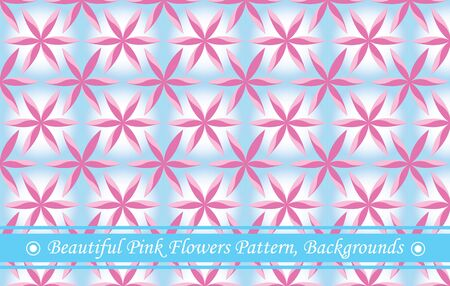 Beautiful Pink Flowers Pattern, Backgrounds Illustration