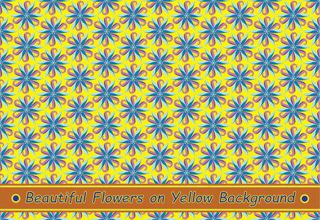 Beautiful Flowers on Yellow Background Illustration