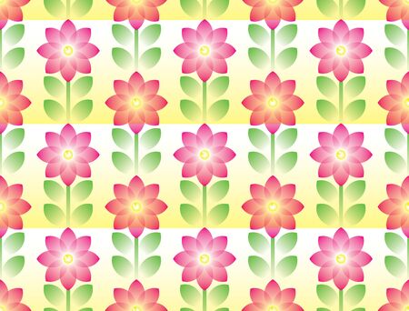 Pink flower and green leaves pattern, Backgrounds