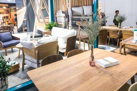 Furniture showing, Display in Home and Garden Exhibition at Bitec Bangna Bangna-Trad road Bangna Bangkok Thailand, August 4, 2019
