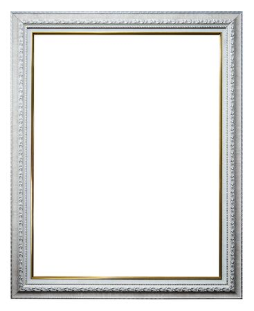 Empty picture frames isolate on white Stockfoto