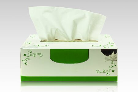 Tissue box mock up white tissue box blank label and no text for packaging, Backgrounds