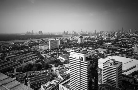 Aerial view of big city, Bangkok,Thailand, Cityscape backgrounds