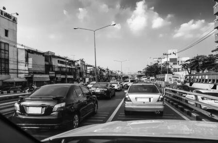 Rush hour - Traffic jam in Bangkok Thailand, Backgrounds