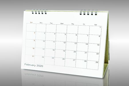 Calender 2020 Isolated on black background Banco de Imagens