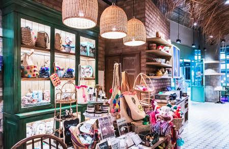 Beautiful craft in a Handicraft shop, True Digital Park shopping Mall at Sukhumvit road Bangkok Thailand, July 5, 2020