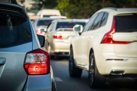 Rush hour - Traffic jam at Sathorn road Bangkok Thailand, Backgrounds
