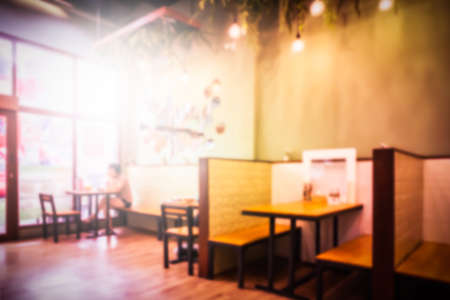 Blurred, Interiors of Thai restaurant in the Community Mall in Bangkok Thailand