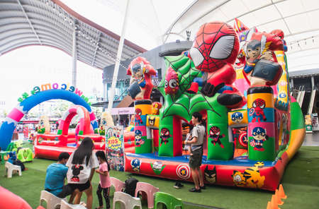 Colorful of balloon house in the kid zone in the Community Mall at soi On Nut Sukhumvit road Bangkok Thailand, March 14, 2021 Éditoriale