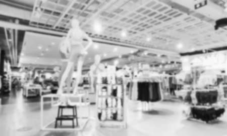 Blurred,Women's clothing and accessory department in a Shopping Mall in Bangkok