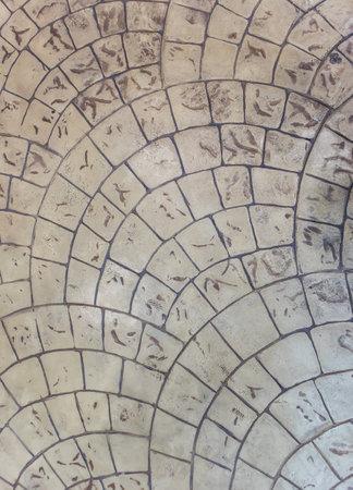 Pavement decorative tile surface pattern, Design and texture concept background