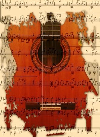 Guitar Zdjęcie Seryjne - 17286054