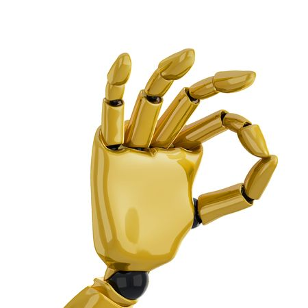 a 3d robotic hand giving the Stock Photo - 4903191
