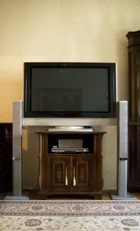 Home theater in living room photo