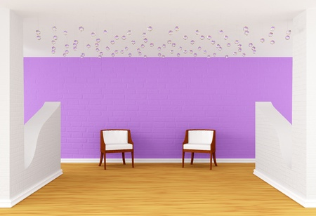 modern room with luxuus chairs Stock Photo - 10160668
