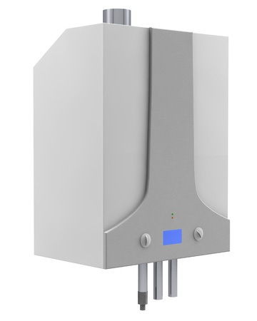 heater: Gas boiler isolated on a white background