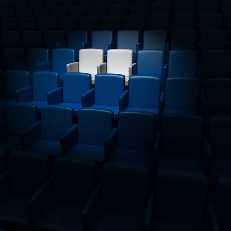 auditorium with two reserved seats  photo
