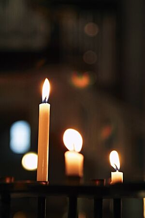 candles glowing in the church  Stock Photo - 12875952