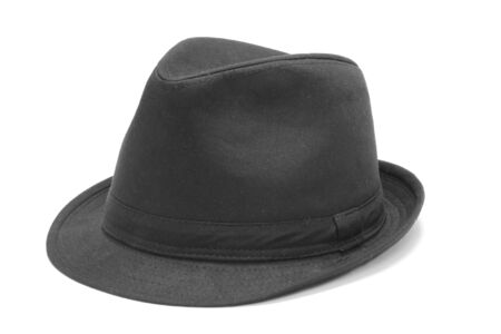 Black hat on the white background  photo